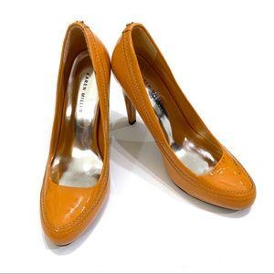 Karen Millen Light Yellowish-Orange Patent Leather